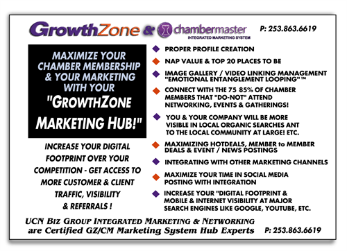 WHAT YOU WILL LEARN IN OUR MEETING! GrowthZone / ChamberMaster Marketing Hub is your most important benefit in your Chamber Membership.