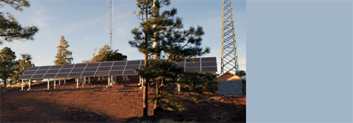 Large, remote ground mount system powering cell tower