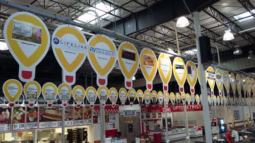 Local business supporting Children's Miracle Network (example of balloons)