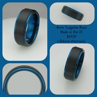 Our tungsten bands are $69. Made in the US. Lifetime Warranty.