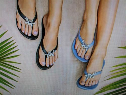 Sandals are made in Georgia. Waterproof, arch support.