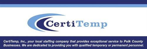 CertiTemp your source for Staffing - For Qualified Temporary and Permanent Personnel.
