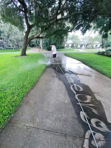 If your driveway is really dirty, we will be happy to write your name!