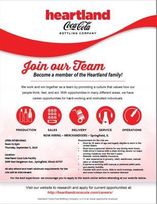 Heartland Coca-Cola - Heartland Coca-Cola/ Class A CDL