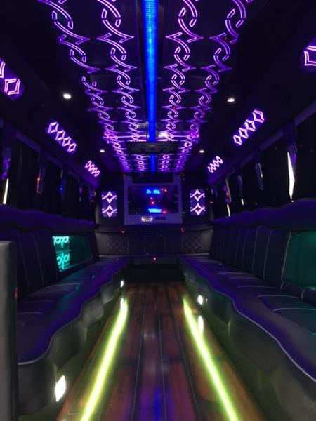 Interior of one of our limousine coaches