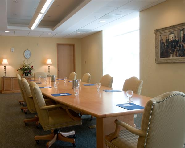 The Library's Governor's Conference Room is an ideal space for small staff meetings or retreats.