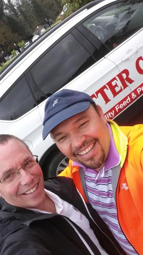 Cam (Servcomm) with Eduardo (Otter Co-op) at Co-op Annual Golf Tourney