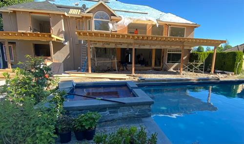 50 ft deck expansion is what this client envisioned ?   Thinking of expanding your deck. Call K4 Construction Ltd for a quote