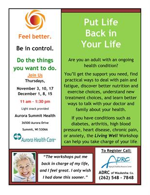 Aurora Medical Center Summit - Living with Chronic ...