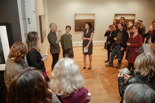 Shana & Robert ParkeHarrison during a gallery talk in the main gallery