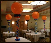 Centerieces with 36 inch Balloons