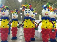 Clown Balloon Columns