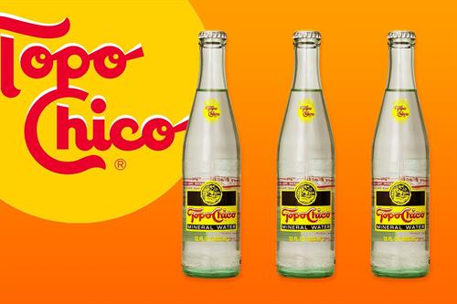 Topo Chico Mineral Water.