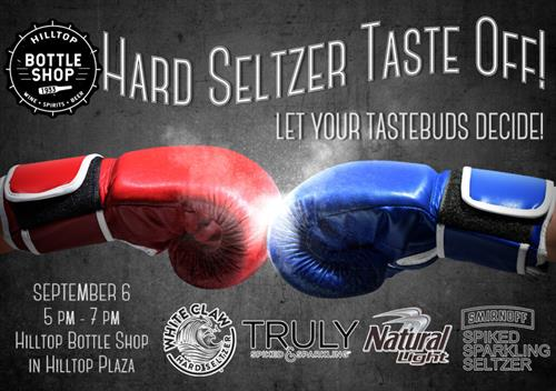 Hard Seltzer Taste Off! September 6th from 5-7PM