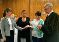 swearing-in ceremony for new volunteers