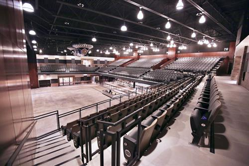 ?Inside, the audience will find a great view of the 80-foot-wide stage from every seat.?