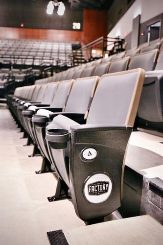The Factory has a capacity of 3,000, but with its unique, movable partitions different seating configurations can be created — offering tremendous floor plan flexibility — ranging from 2,350-person seated shows to 610-person seated dinners to intimate gatherings of any size.