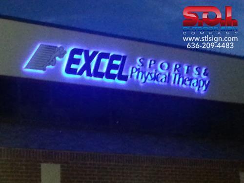 LED illuminated wall sign