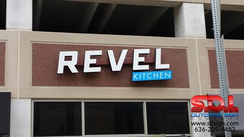 LED illuminated channel letter sign.