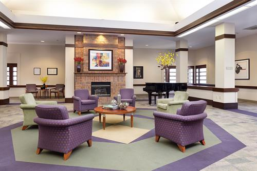 The great room perfect for gatherings, recitals, book fares and other fun activities for residents and their families