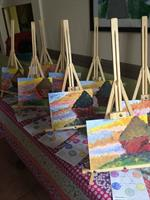 A lesson on French Impressionism (paintings made by 6-9 yr. olds!)