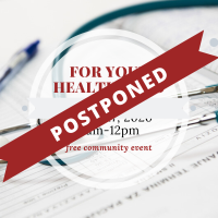 POSTPONED - 2020 For Your Health Expo
