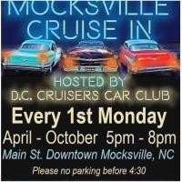Cancelled - Mocksville Cruise In - Hosted By D.C. Cruisers Car Club