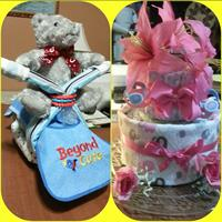 Assorted Diaper Cakes, great for Baby gifts & showers