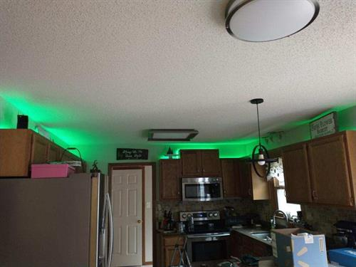 Over the cabinet lights