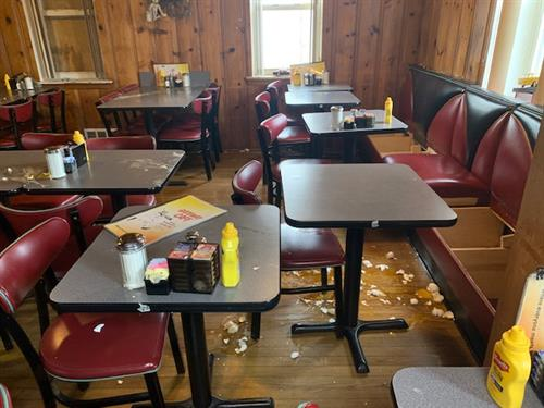 Vandalism Remediation Services - Restaurant