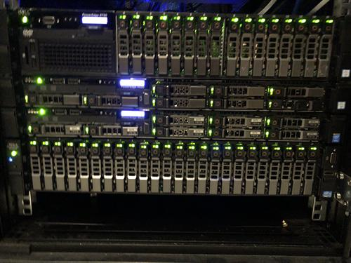Our servers at our data center in Philadelphia