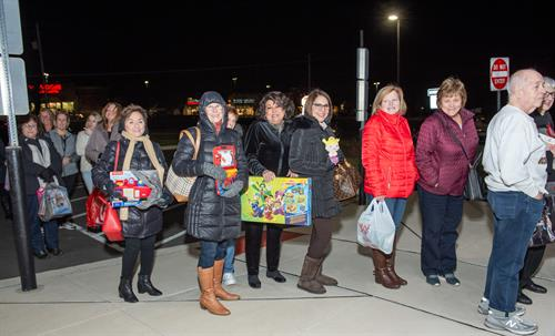 Local shoppers who donated toys for our foster care youth through a Marks Jewelers Event