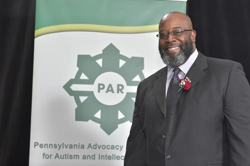Delta Staff Member Walter Hardy at his award ceremony for PA Direct Service Professional of 2018
