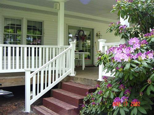 White PVC Porch Railing