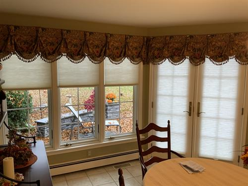 When privacy's what you need, light-filtering cellular shades fit the bill!