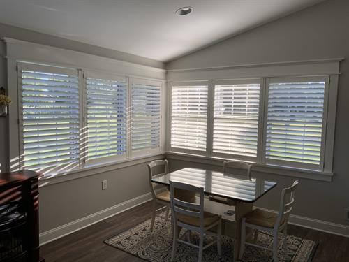 The timeless classic look of plantation shutters; add functional style to any sunroom!