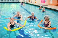 Foulkeways indoor pool hosts classes, free swim and sometimes fun for the grandkids!