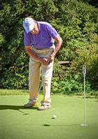 Foulkeways putting green allows Alan to work on his short game
