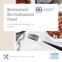 SBA Restaurant Revitalization Fund Informational Webinar