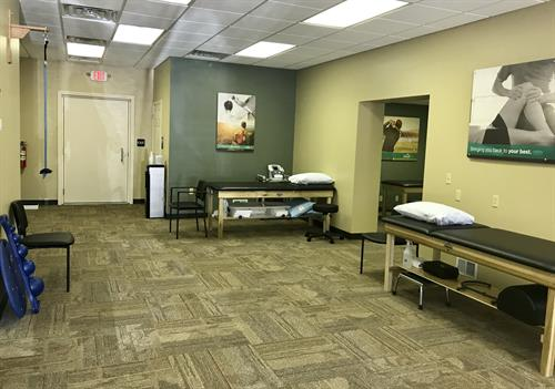 Treatment Area. Every visit will include manual therapy.