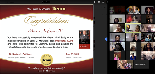 Intentional Living Mastermind Course Virtual Graduation