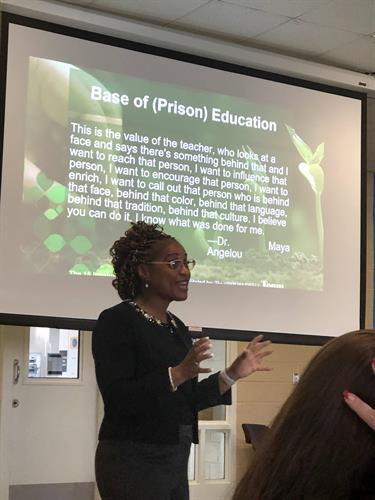 Speaking at Federal Bureau of Prisons