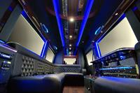Interior of 11-passenger Mercedes-Benz Luxury Coach