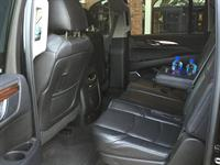 Interior of 7-passenger Cadillac Escalade SUV