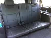 Interior of 7-passenger Cadillac Escalade SUV
