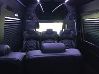 Interior of 14-passenger Mercedes-Benz Executive Coach