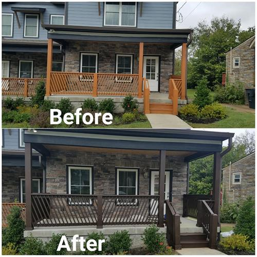Before & After Weatherproofing Solid Stain