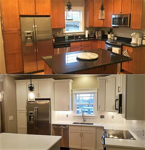 Before & After Cabinet Resurfacing