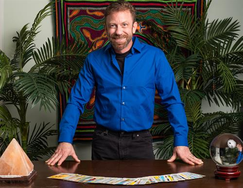 Working with Tarot Archetypes, esoteric imagery, numerology, and intuition, Jeff utilizes tarot cards to tap into the spiritual realm and to bring forth messages, predictions and guidance for his clients.