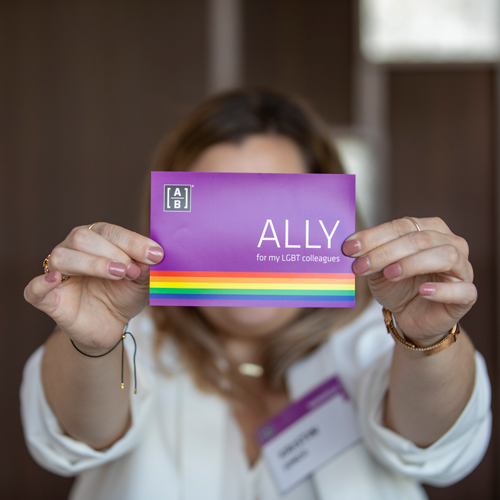 AB celebrates pride and fosters Allies in its offices around the world.